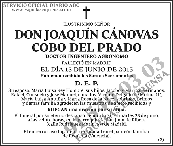 Joaquín Cánovas Cobo del Prado
